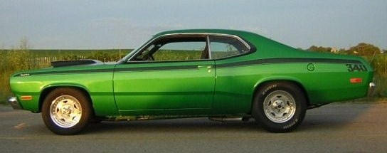 Picture of 72 Duster for article:  In Springtime, a young man's fancy turns to.... Drag Racing!