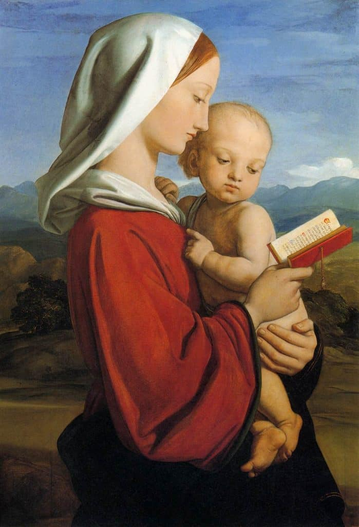 picture of Madonna and Child to illustrate Christmas Letter 2019